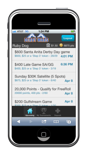 DerbyWars mobile app